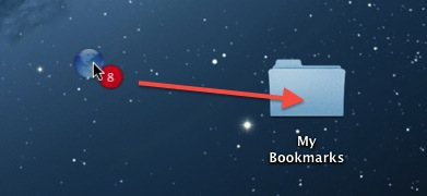 how to make a bookmark folder on mac