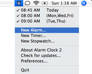 how to use your mac as an alarm