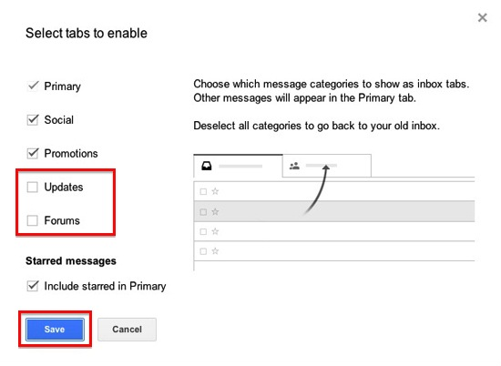 how to change layout of gmail