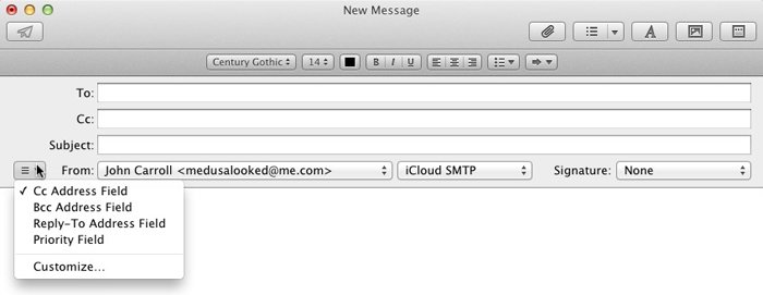 how to add bcc in apple mail