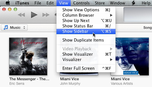 how to show sidebar on mac