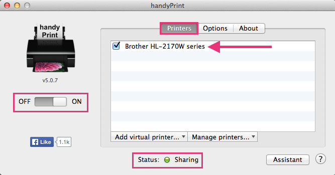 how to turn printer onlne mac