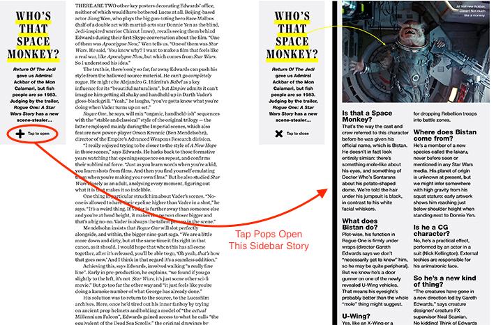 Empire Movie Magazine iPad Surprise Sidebars