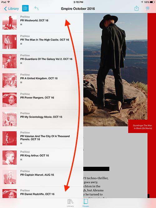 Empire Movie Magazine iPad Immediate Access