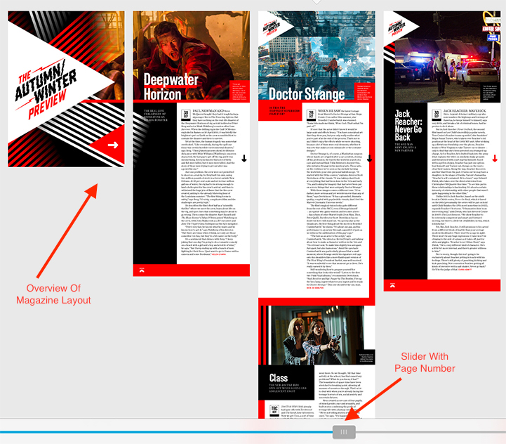 Empire Movie Magazine iPad Layout Overview