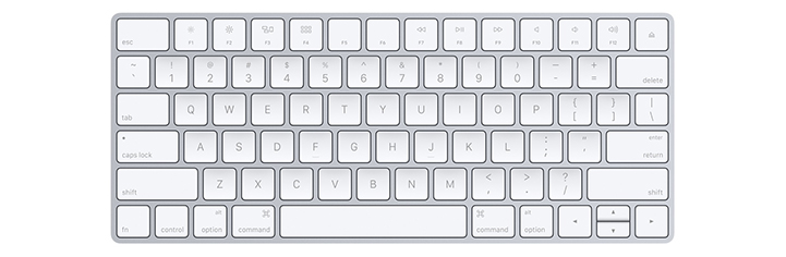 Apple wirless keyboard - front