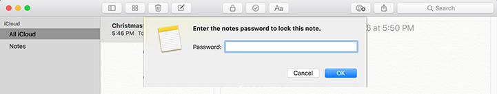 Apple Notes Lock Password