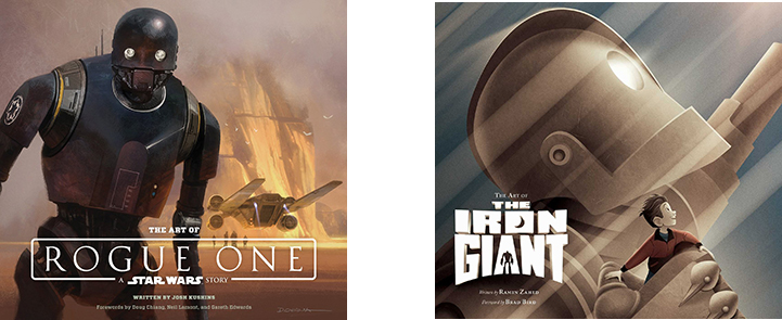 Gifts 2016 - The Art Of Rogue One and The Art Of The Iron Giant