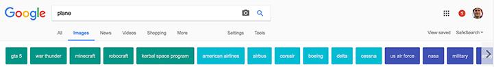 Google Images - Categories Standard