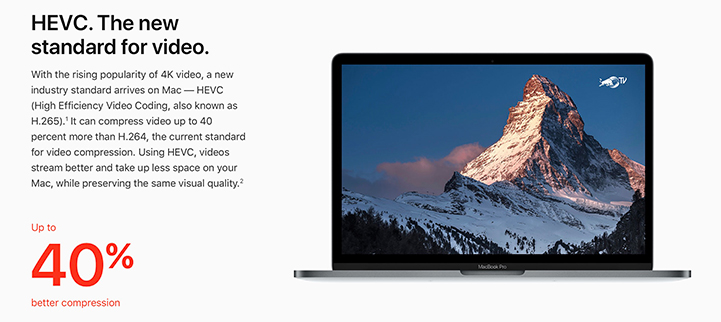 Apple HEVC Video Standard