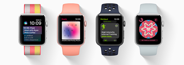 Watch OS 4 on 4 watches