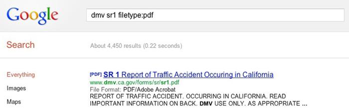 Google File Type Search