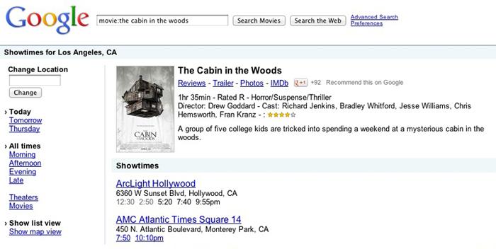 Google Movie Search