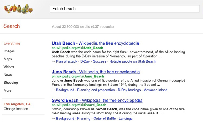 Google Related Ideas Search