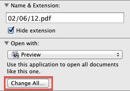 Mac Screenshot - PDF Information Box Change All
