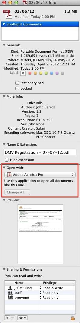 Mac Screenshot - PDF Information Box
