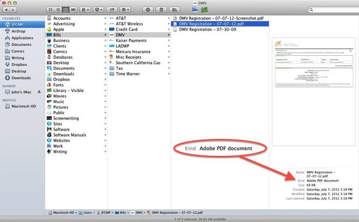 Mac Screenshot - PDF in Finder