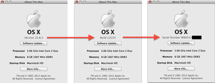 About This Mac Serial Number
