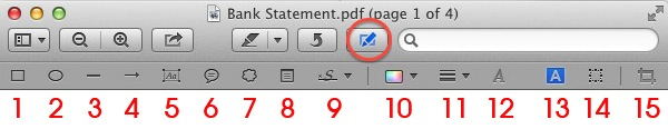 Apple Mac OSX Preview - Edit Toolbar
