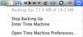 Apple Mac Time Machine - Backing Up