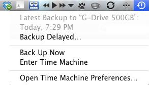 Apple Mac Time Machine - Backup Delayed