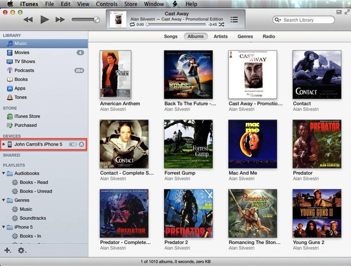 iTunes 11 Sidebar