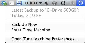 Apple Mac Time Machine - Latest Backup