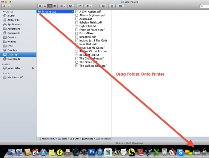 How To    Print The Contents Of A Folder On The Mac | No