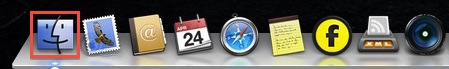 Mac OSX Finder On The Dock