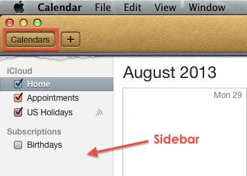 Mac OSX - Calendar Sidebar