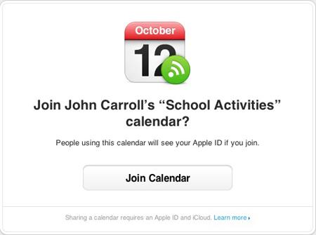 Mac OSX - Calendar - Join Invitation