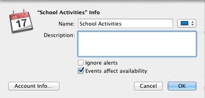 Mac OSX - Calendar - Name Calendar