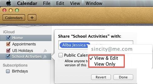 Mac OSX - Calendar - Shared User Permissions