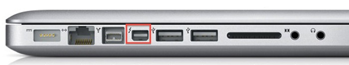 Apple Mac OSX Thunderbolt Port
