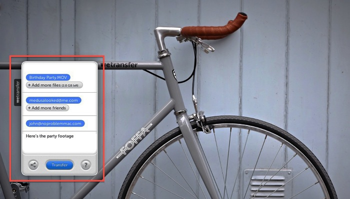 WeTransfer - File Upload
