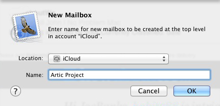 Apple Mail - New Mailbox Name
