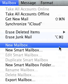 How to create a new folder for pictures on mac mail