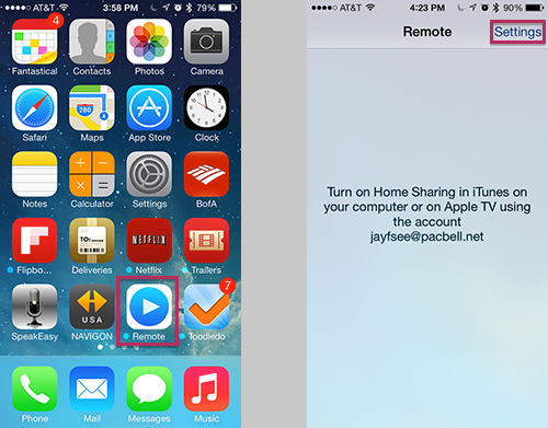 Apple Remote For iPhone and iPad - Settings Options