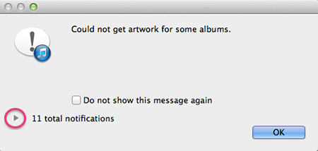 iTunes - Could Not Get All Album Artwork