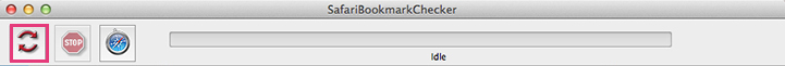 Apple Mac Safari Bookmarkchecker - Run Validation Process