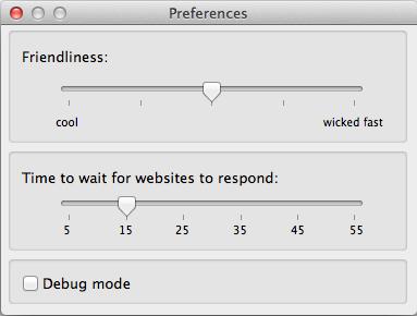 Apple Mac Safari Bookmarkchecker - Preferences