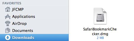 Apple Mac Safari Bookmarkchecker - Disk Image