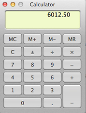 Apple Mac OSX Mavericks Calculator