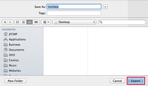 New Pages - Word Document Export - Final Step