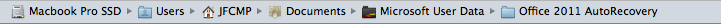 Microsoft Word For Mac - AutoRecover File Path