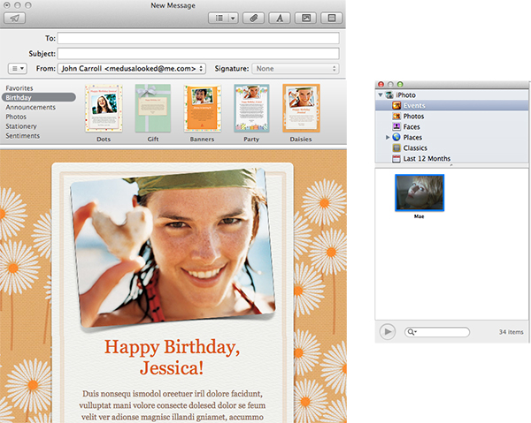 Apple Mail - Dropping Images Into Apple Stationery