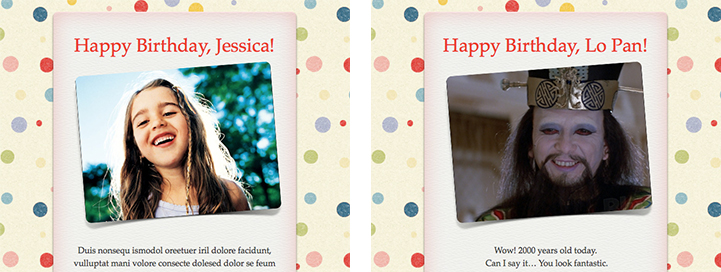 Apple Mail - Using Happy Birthday Stationery
