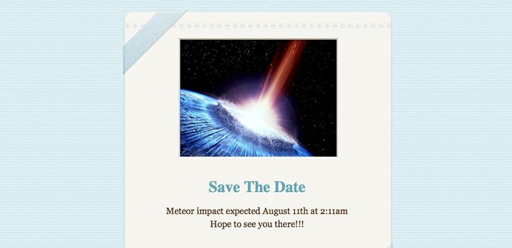 Mac OSX Stationery - Save the Date