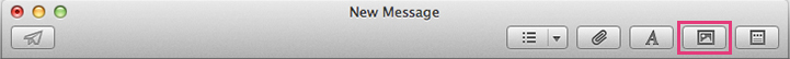 Apple Mail - iPhoto Button