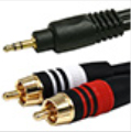 3.5mm stereo male to stereo RCA Male Audio Cable